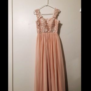 KF Bridal🎉 Peach Lace Flowy Tank Stunning Dress